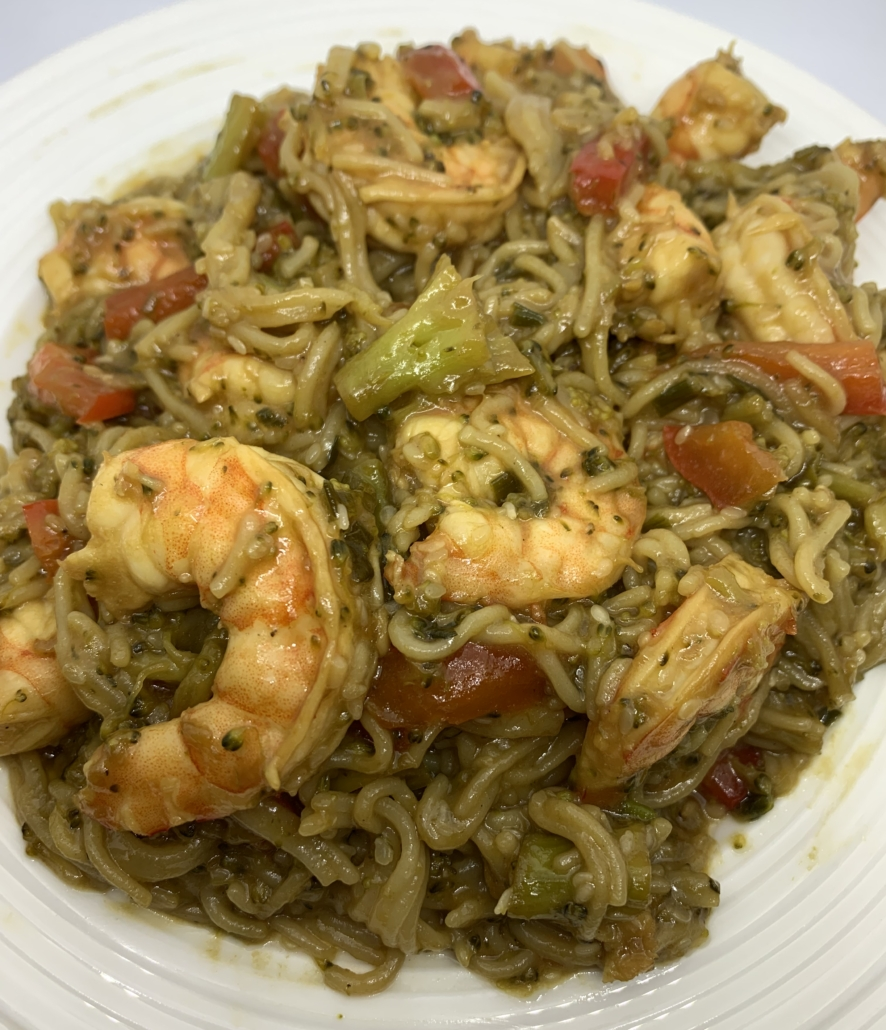 Gluten-Free Shrimp and Ramen Stirfry
