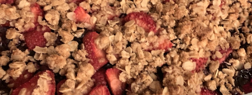 The Gluten-Free Gal's Guide Blueberry Strawberry Crumble